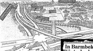 In den 60ern geplantes Autobahndreieck